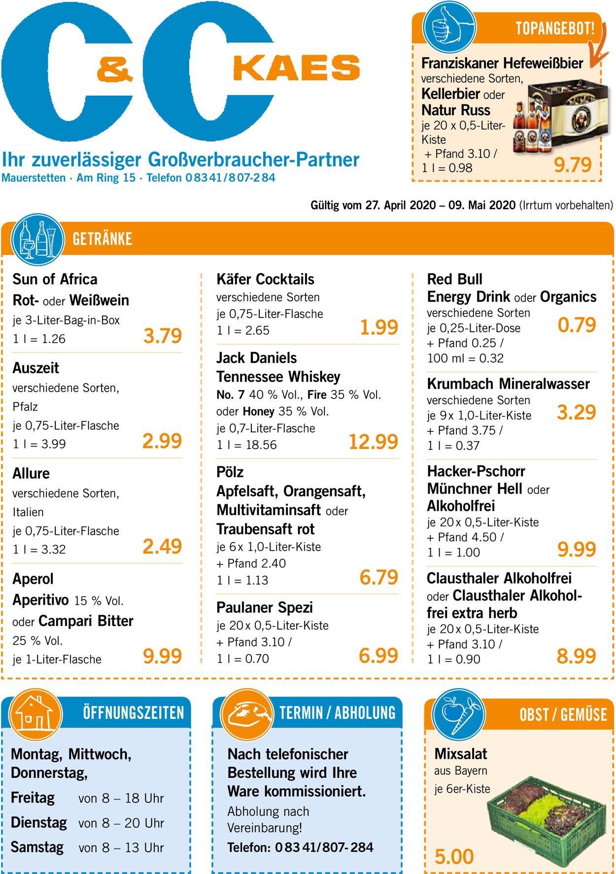V-Markt Prospekt - Aktuell vom 27.04-09.05.2020