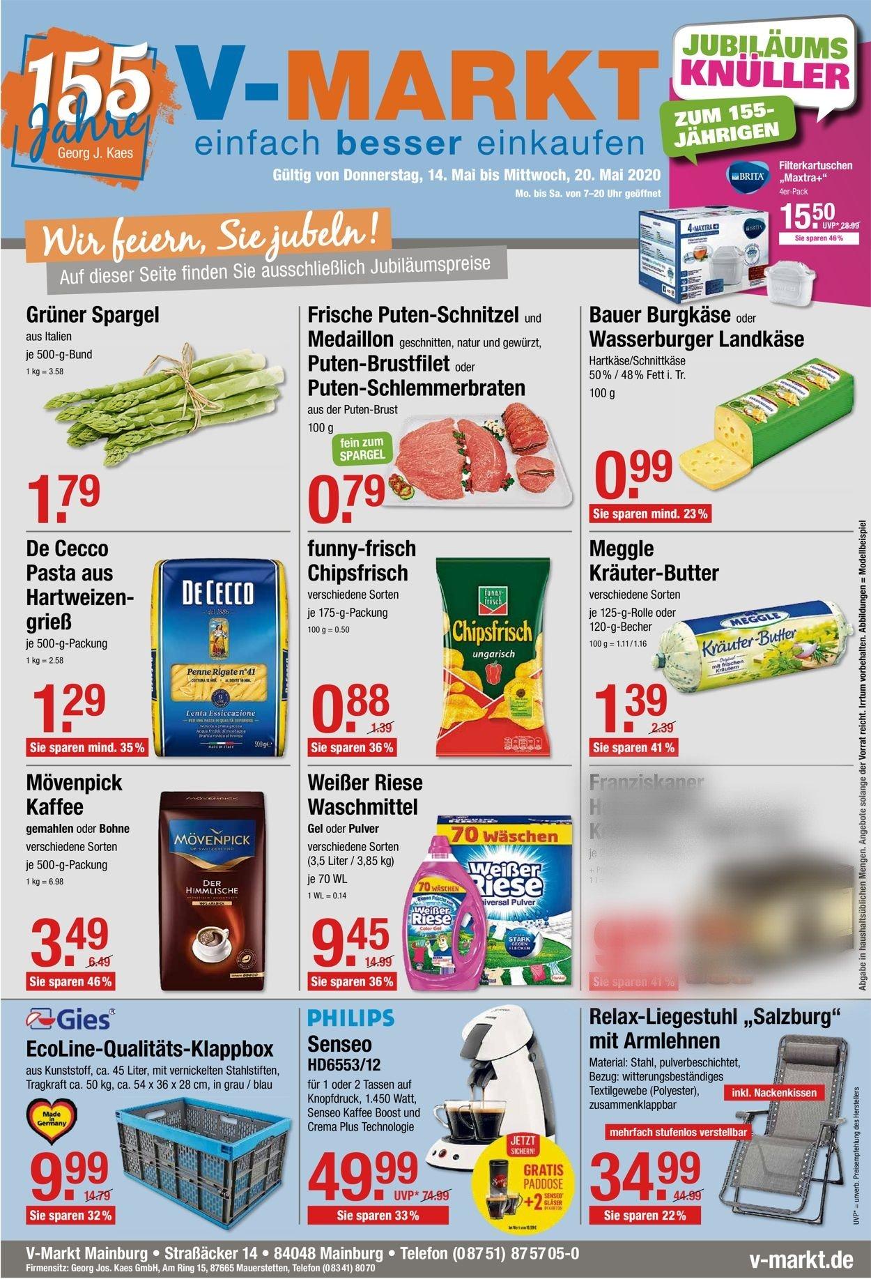 V-Markt Prospekt - Aktuell vom 14.05-20.05.2020