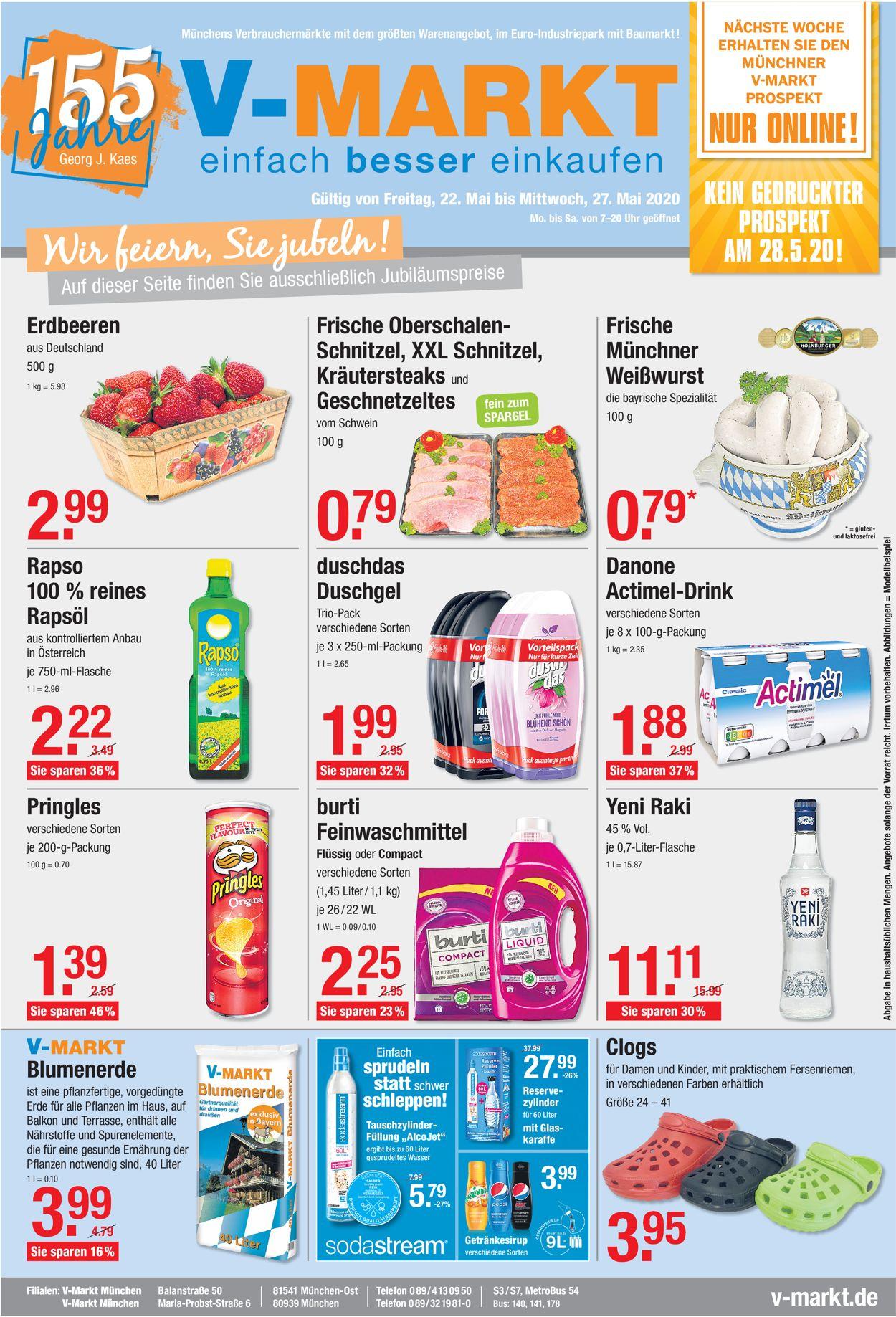 V-Markt Prospekt - Aktuell vom 22.05-27.05.2020