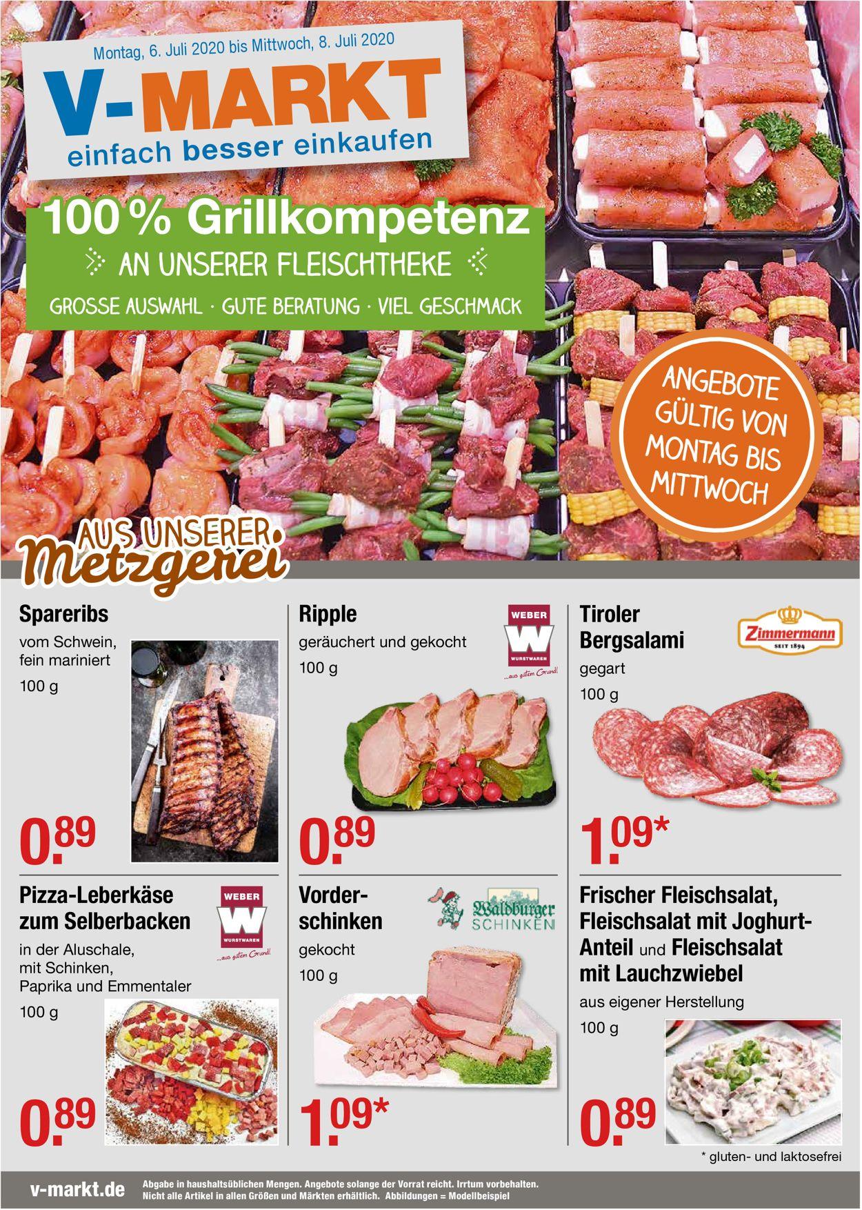 V-Markt Prospekt - Aktuell vom 06.07-08.07.2020