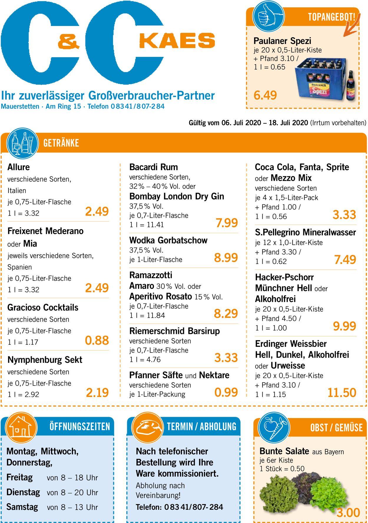 V-Markt Prospekt - Aktuell vom 06.07-18.07.2020
