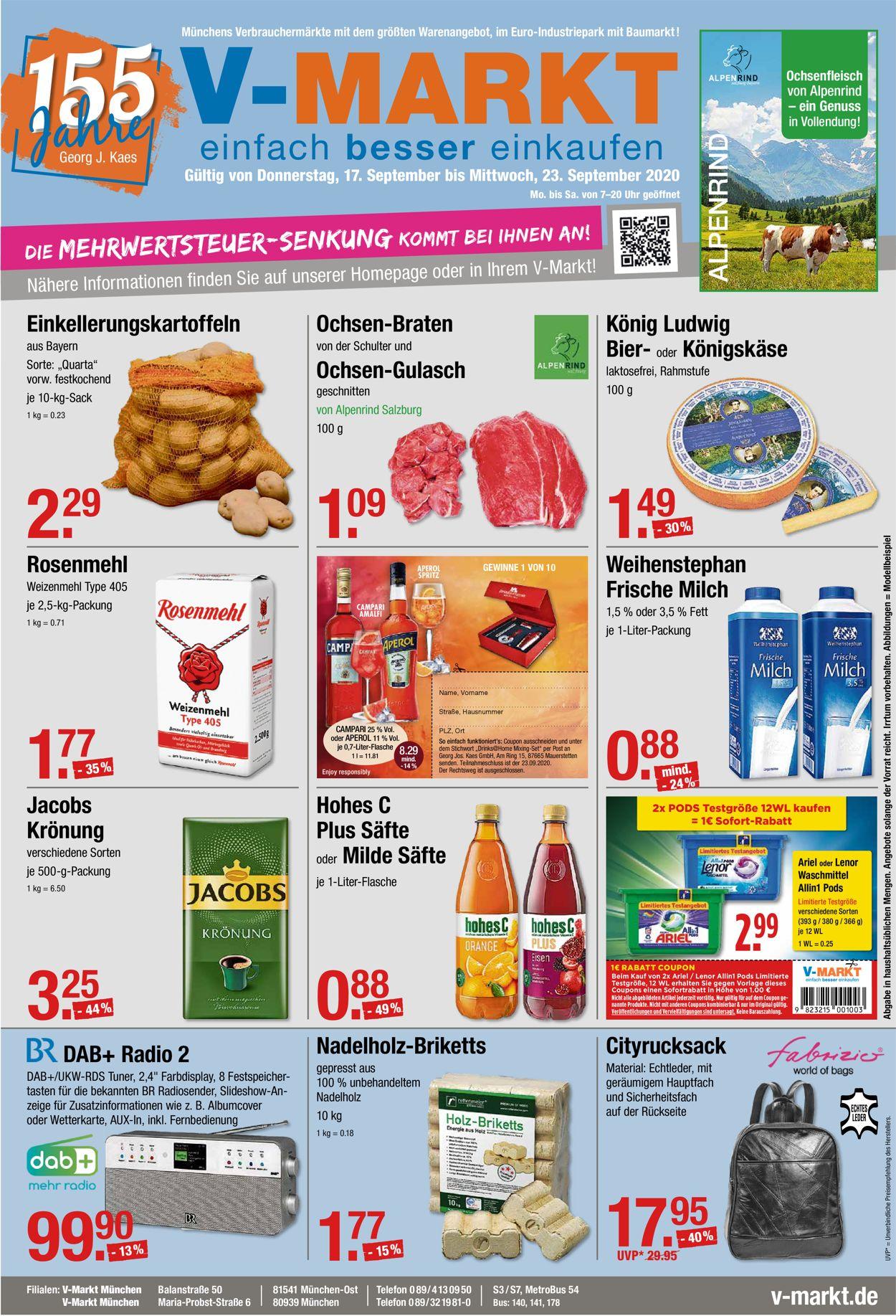 V-Markt Prospekt - Aktuell vom 17.09-23.09.2020 (Seite 2)