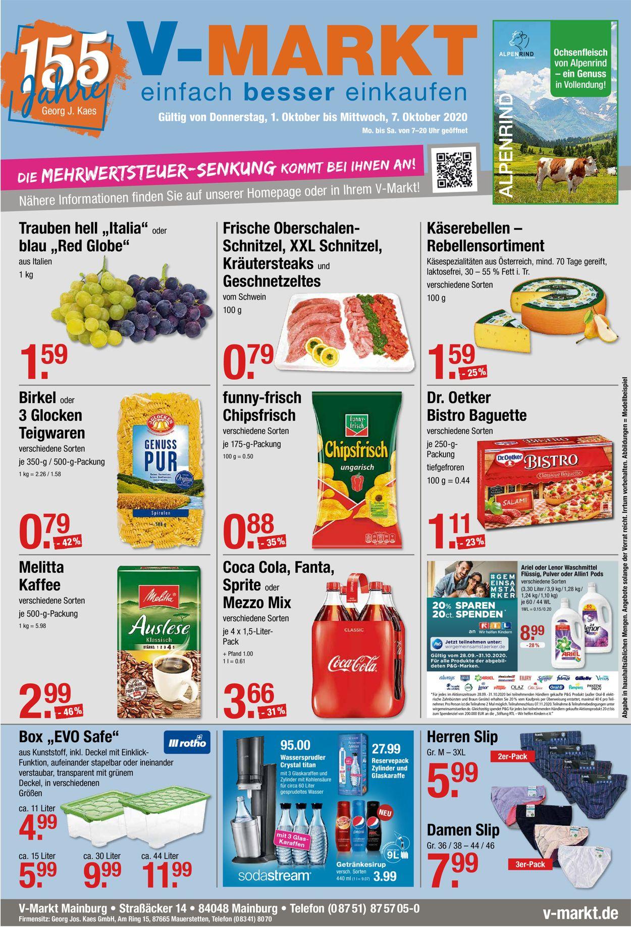 V-Markt Prospekt - Aktuell vom 01.10-07.10.2020
