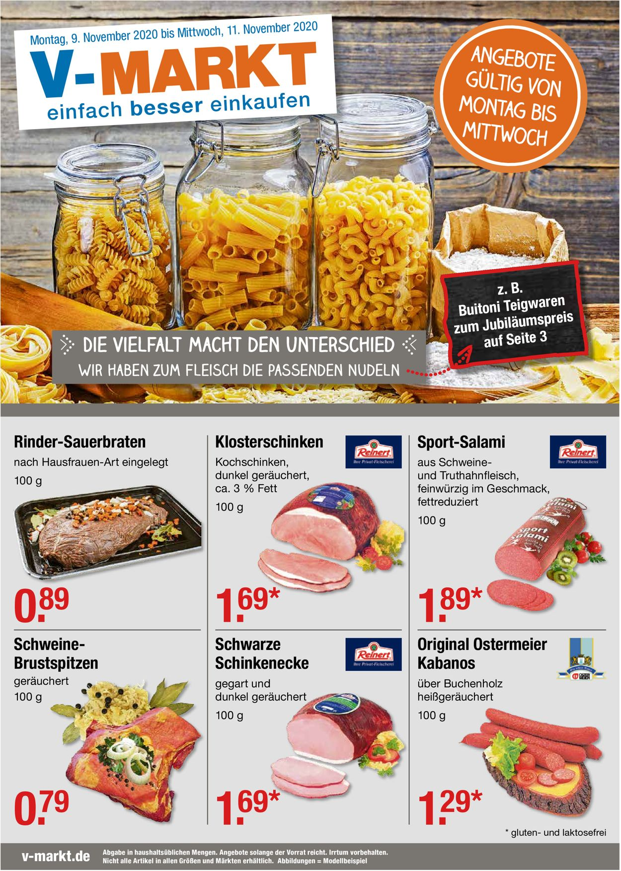 V-Markt Prospekt - Aktuell vom 09.11-11.11.2020