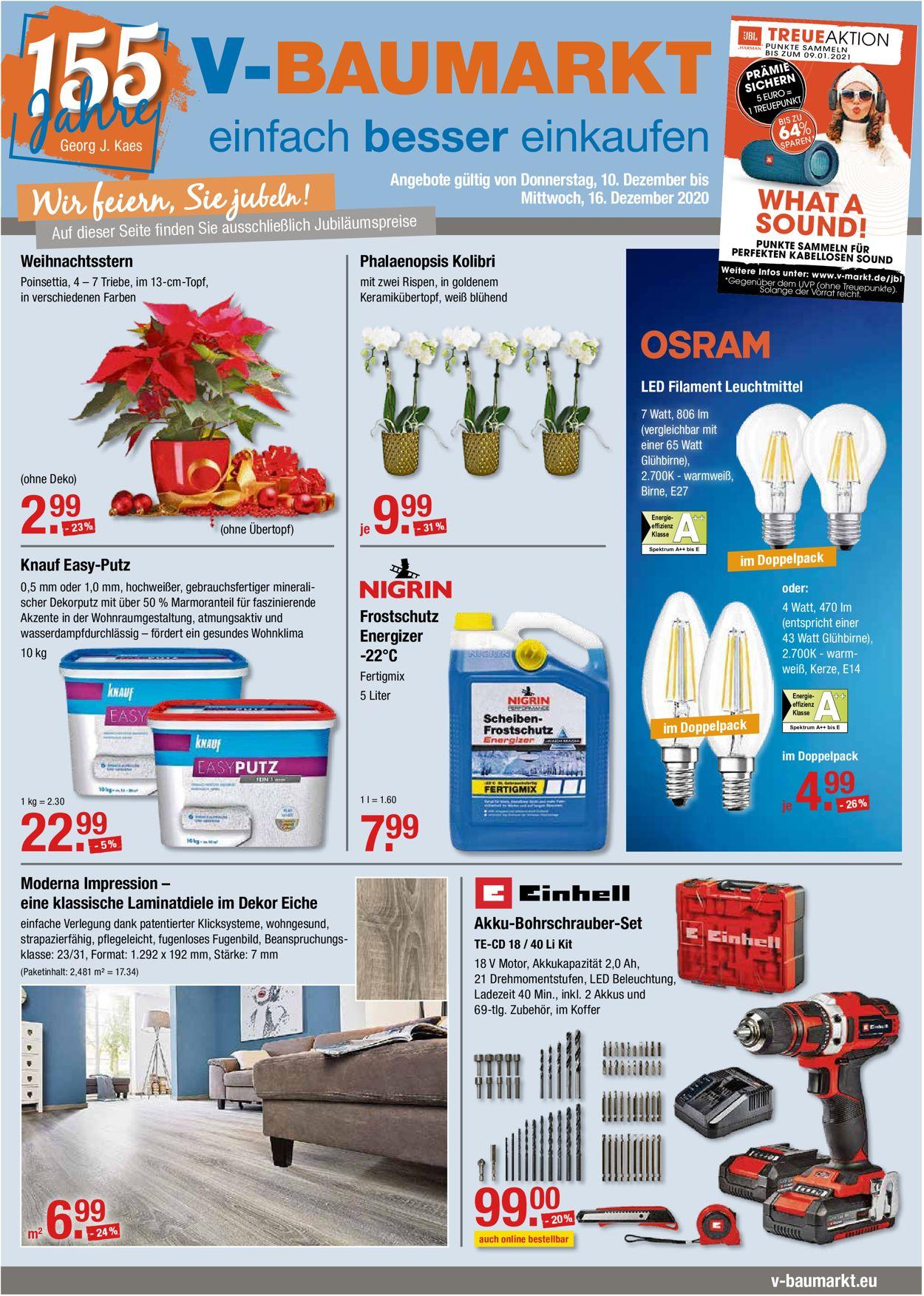 V-Markt Prospekt - Aktuell vom 10.12-16.12.2020