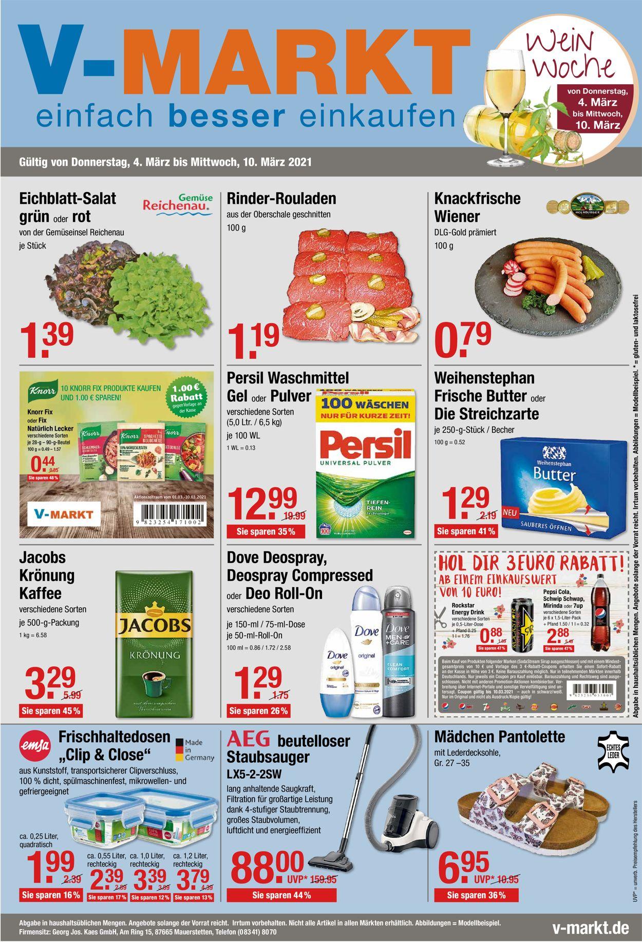 V-Markt Prospekt - Aktuell vom 04.03-10.03.2021