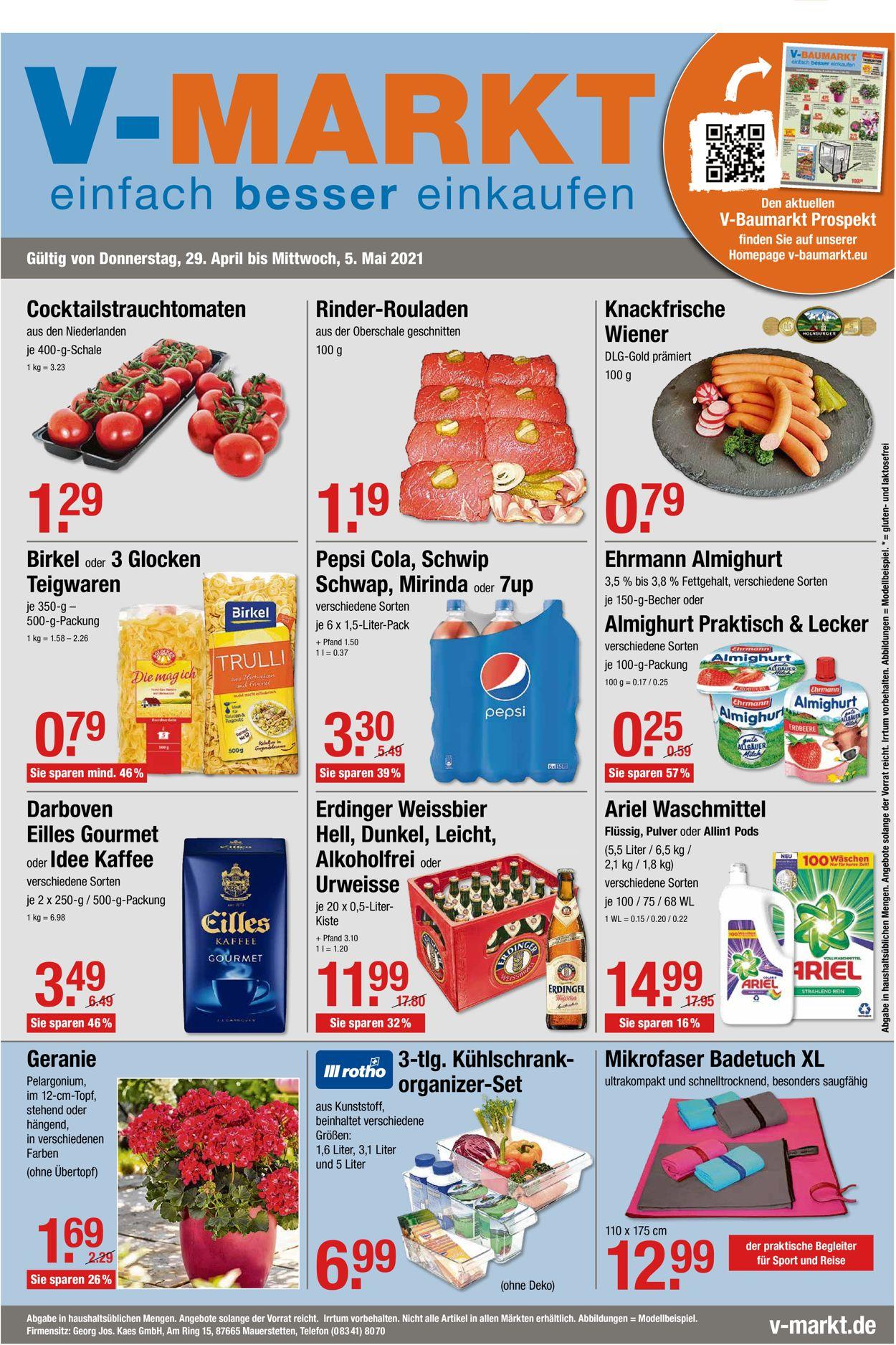 V-Markt Prospekt - Aktuell vom 29.04-05.05.2021