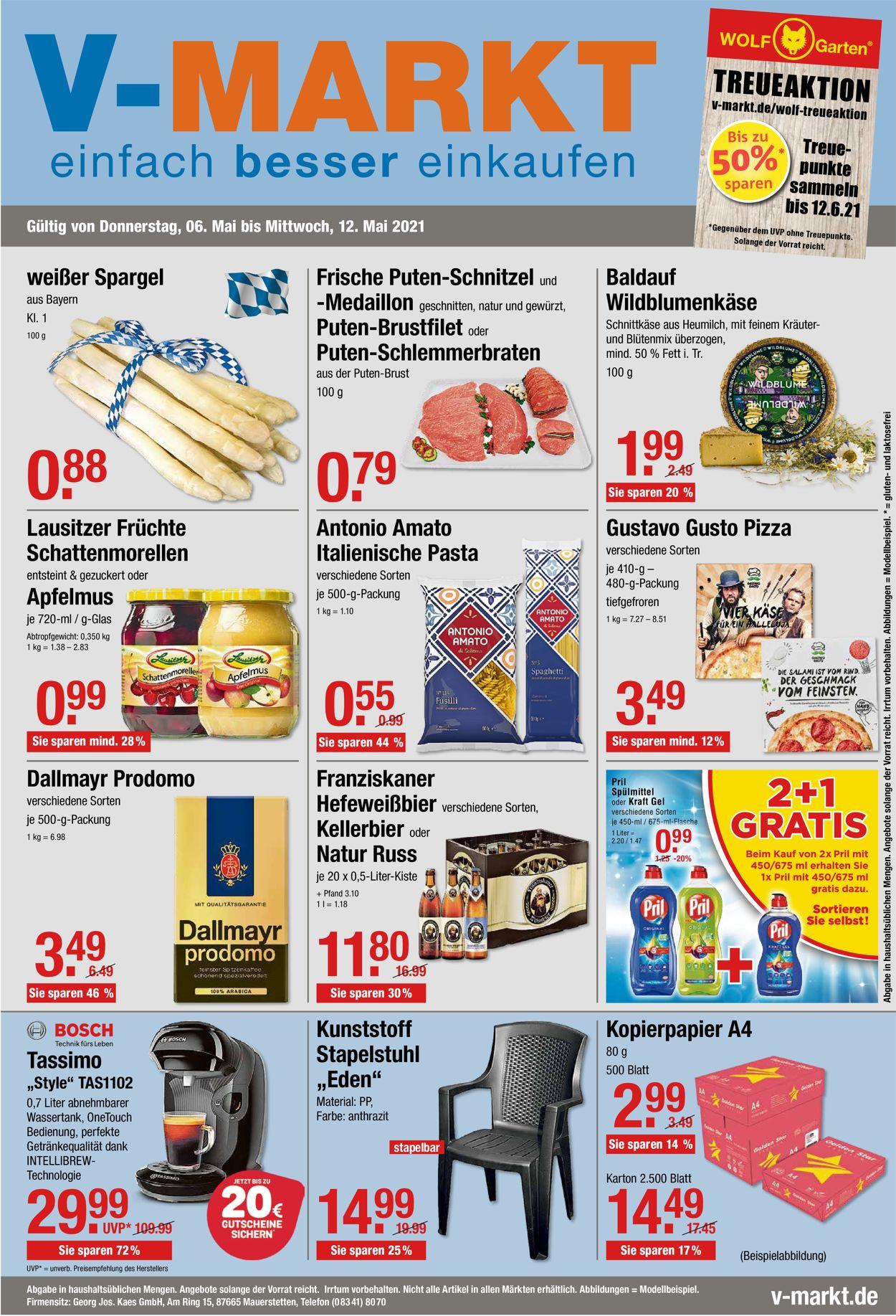 V-Markt Prospekt - Aktuell vom 06.05-12.05.2021