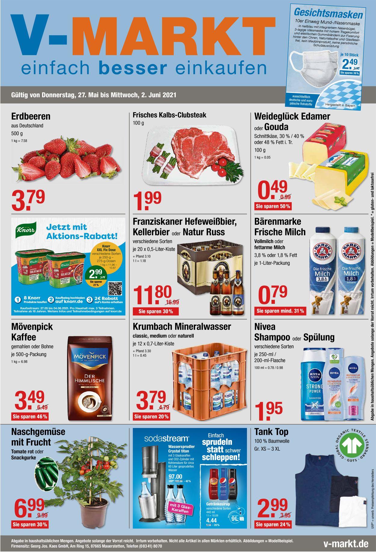 V-Markt Prospekt - Aktuell vom 27.05-02.06.2021