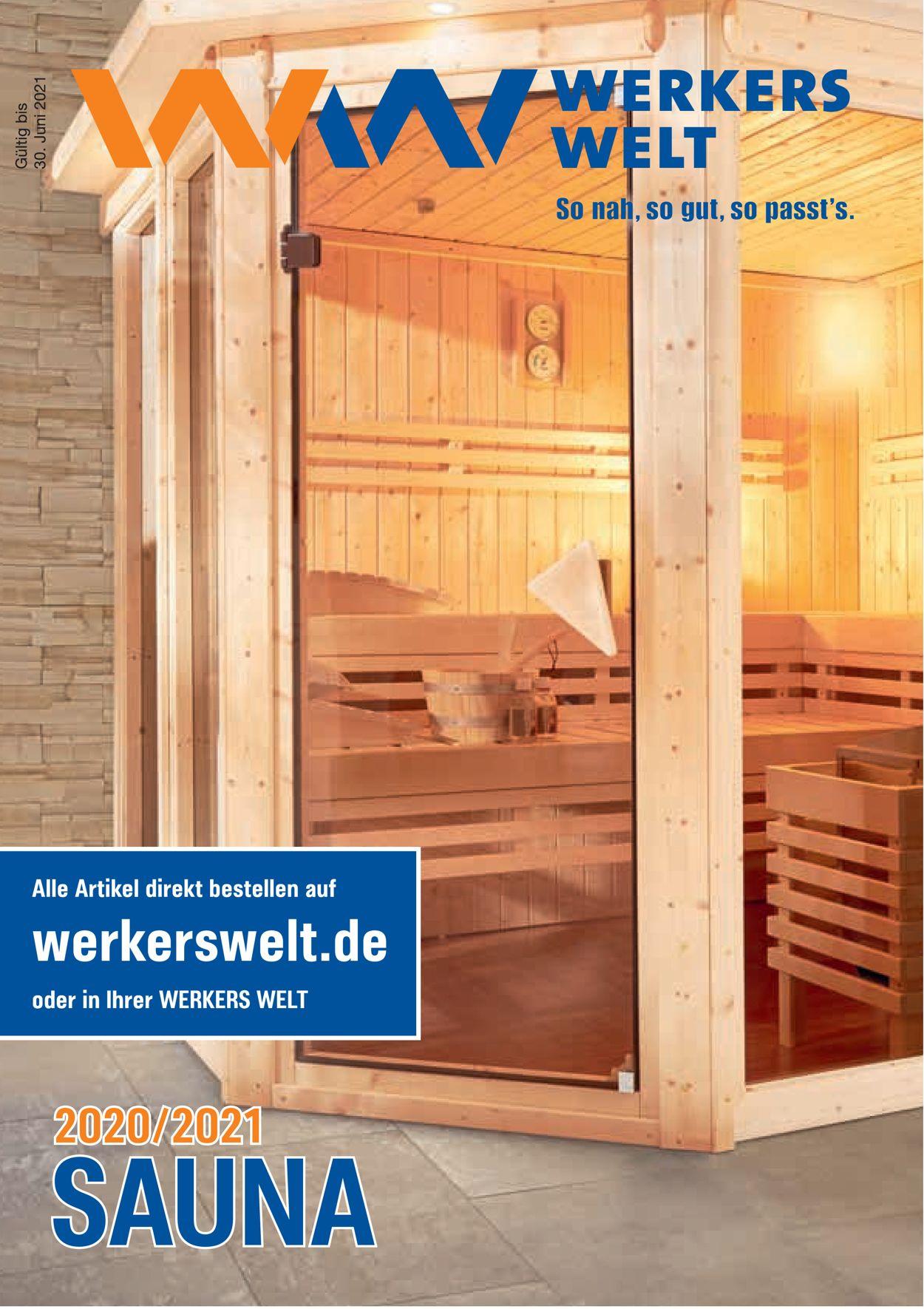 Werkers Welt Sauna Prospekt - Aktuell vom 01.11-30.06.2021