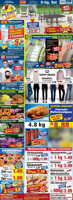 Wiglo Wunderland Prospekt - Aktuell vom 31.08-05.09.2020
