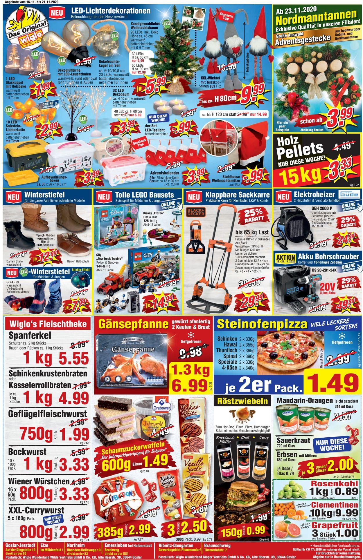 Wiglo Wunderland - Weihnachtsprospekt 2020 Prospekt - Aktuell vom 16.11-21.11.2020