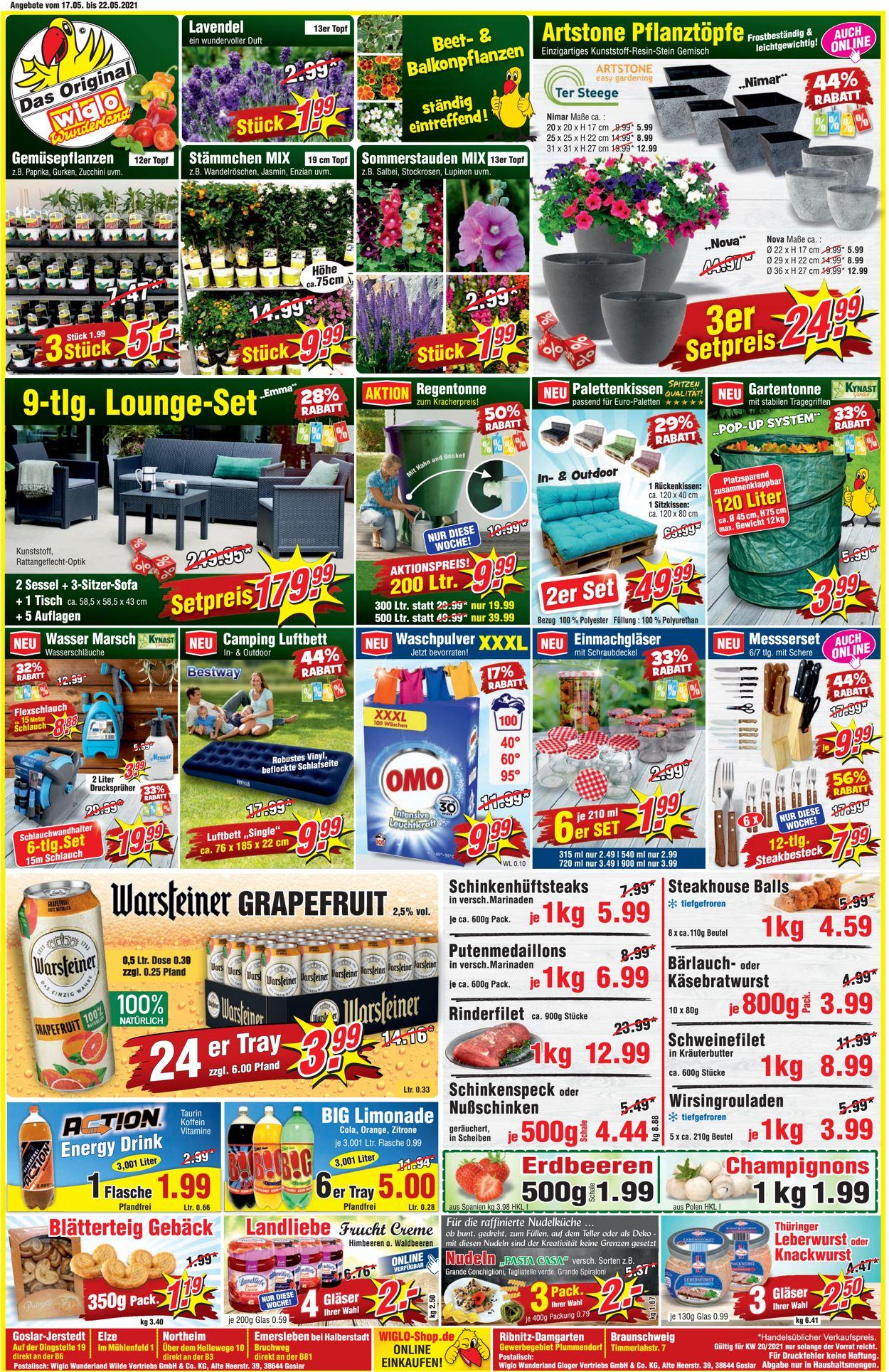 Wiglo Wunderland Prospekt - Aktuell vom 17.05-22.05.2021
