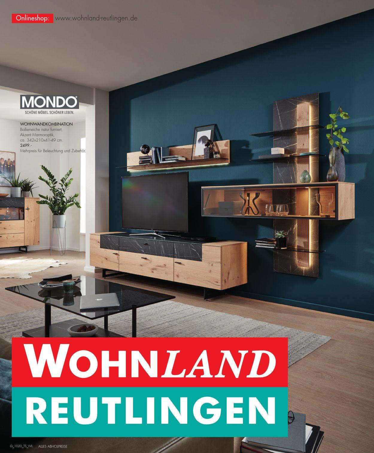 Wohnland Reutlingen Prospekt - Aktuell vom 08.10-21.10.2020