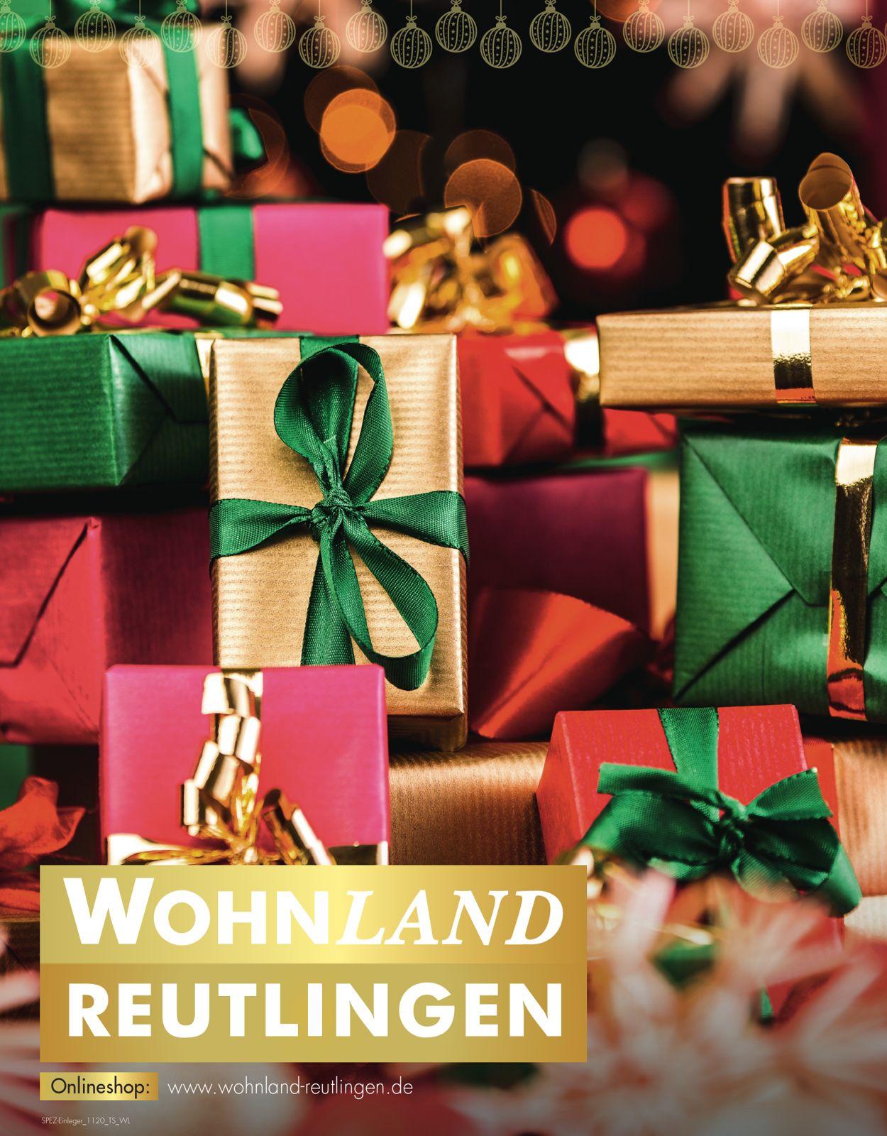 Wohnland Reutlingen - Weihnachtsprospekt 2020 Prospekt - Aktuell vom 20.11-30.11.2020