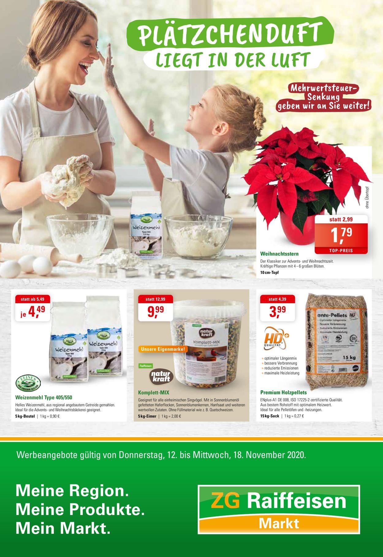 ZG Raiffeisen - Weihnachtsprospekt 2020 Prospekt - Aktuell vom 12.11-18.11.2020