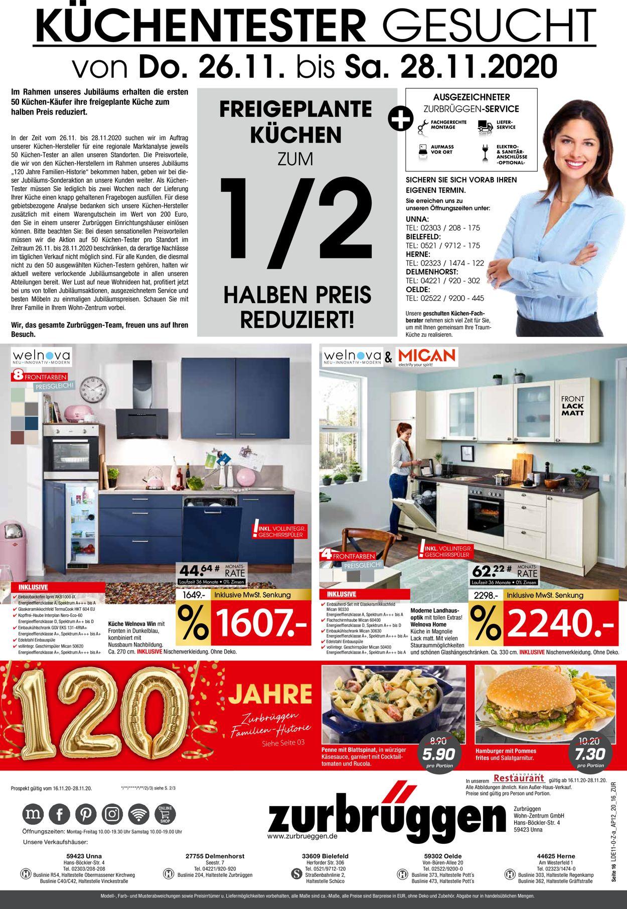 Zurbrüggen Prospekt - Aktuell vom 16.11-28.11.2020 (Seite 16)