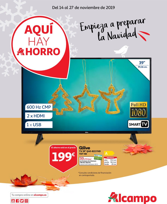 Alcampo Catálogo Navideño 19/20 Folleto - 14.11-27.11.2019