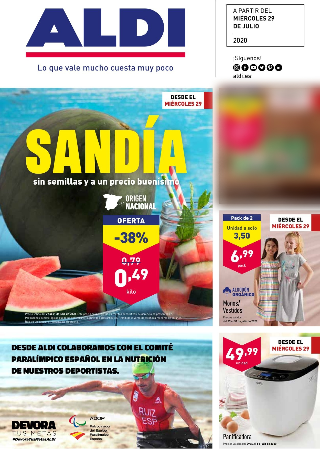 Aldi Folleto - 29.07-04.08.2020