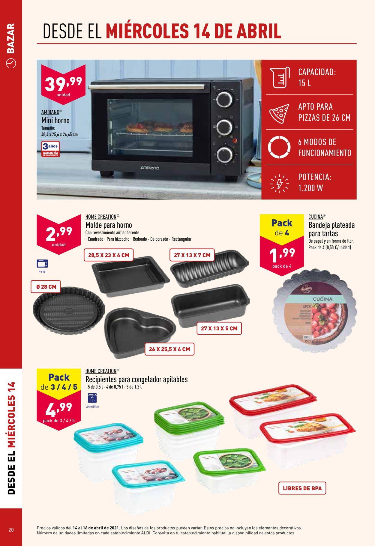 Aldi Folleto - 14.04-20.04.2021 (Página 20)