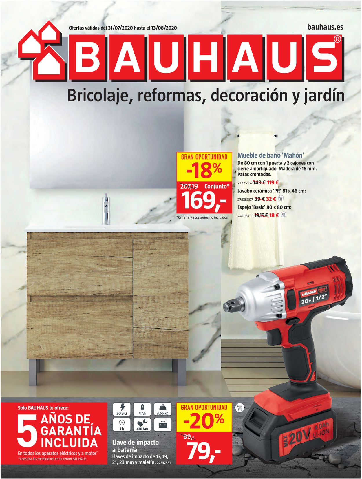 Bauhaus Folleto - 31.07-13.08.2020