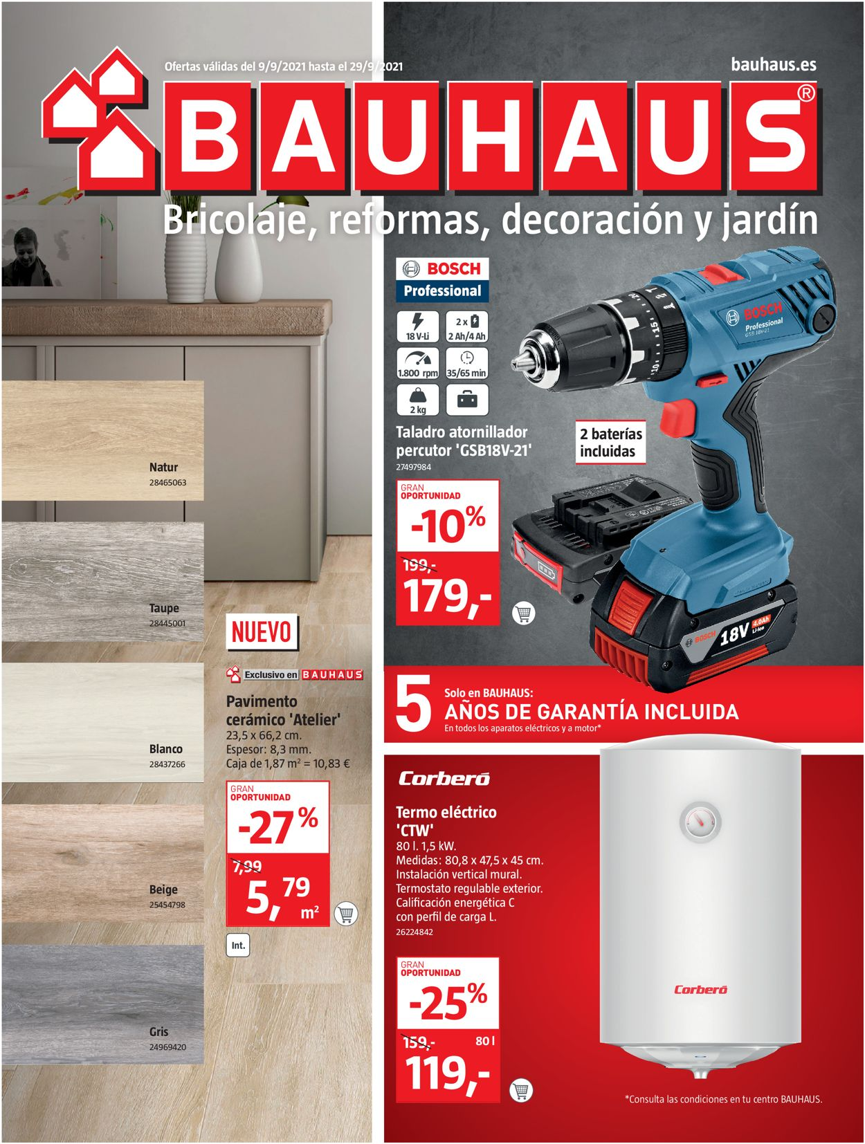 Bauhaus Folleto - 09.09-29.09.2021