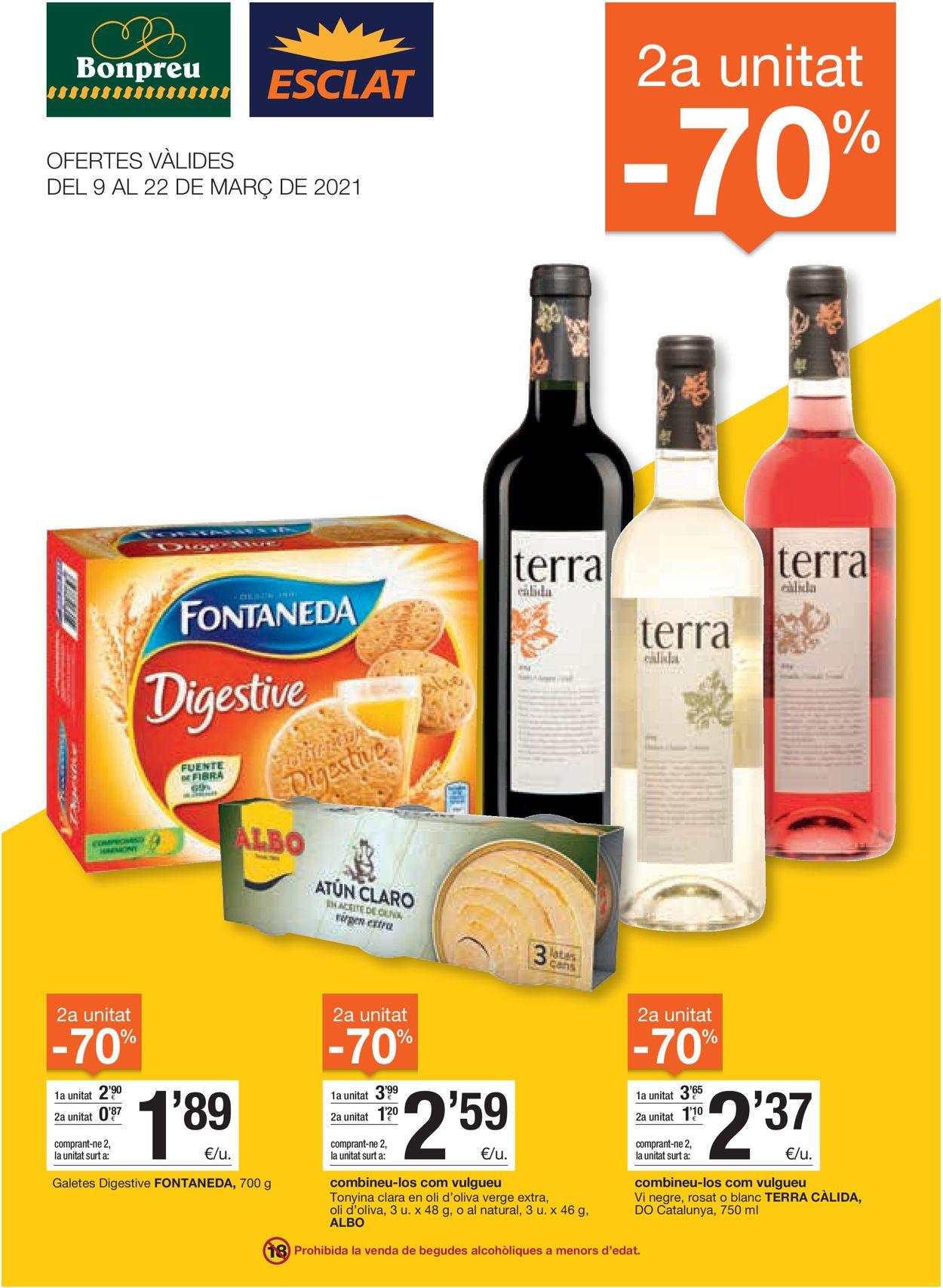 Bonpreu Folleto - 09.03-22.03.2021