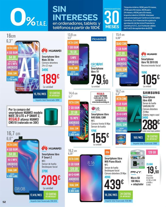 Carrefour Folleto - 11.09-23.09.2019 (Página 52)