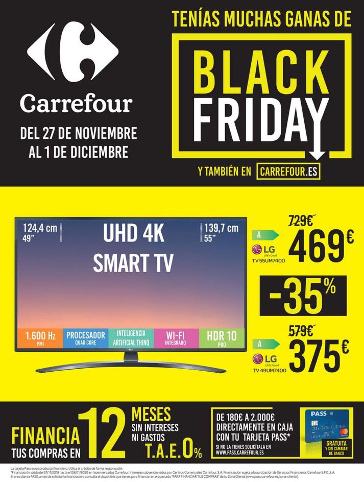 Carrefour Black Friday 2019 Folleto - 27.11-01.12.2019