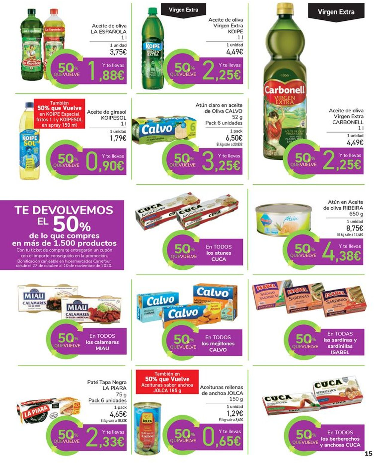 Carrefour Folleto - 14.10-26.10.2020 (Página 15)