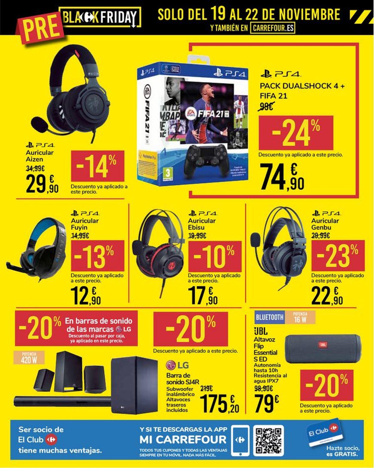 Carrefour - Pre-Black Friday 2020 Folleto - 16.11-22.11.2020 (Página 12)
