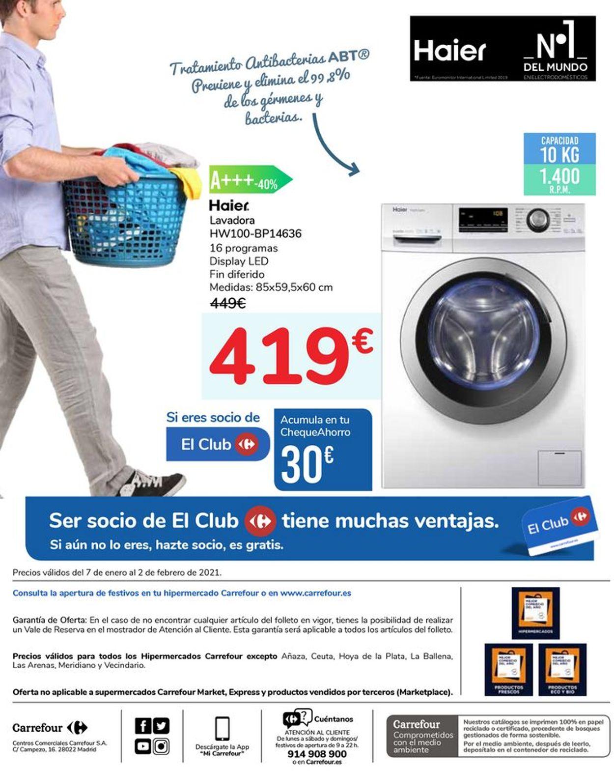 Carrefour Tu Seguridad Es Nuestra Prioridad 2021 Folleto - 07.01-02.02.2021 (Página 14)