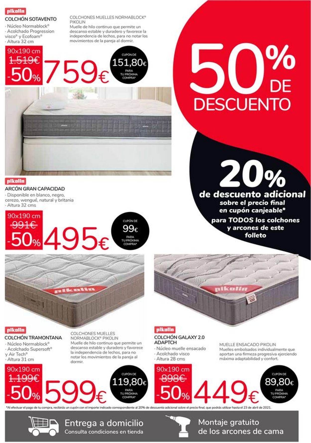 Carrefour 50% de descuento en Pikolin y Flex Folleto - 24.02-23.03.2021 (Página 2)