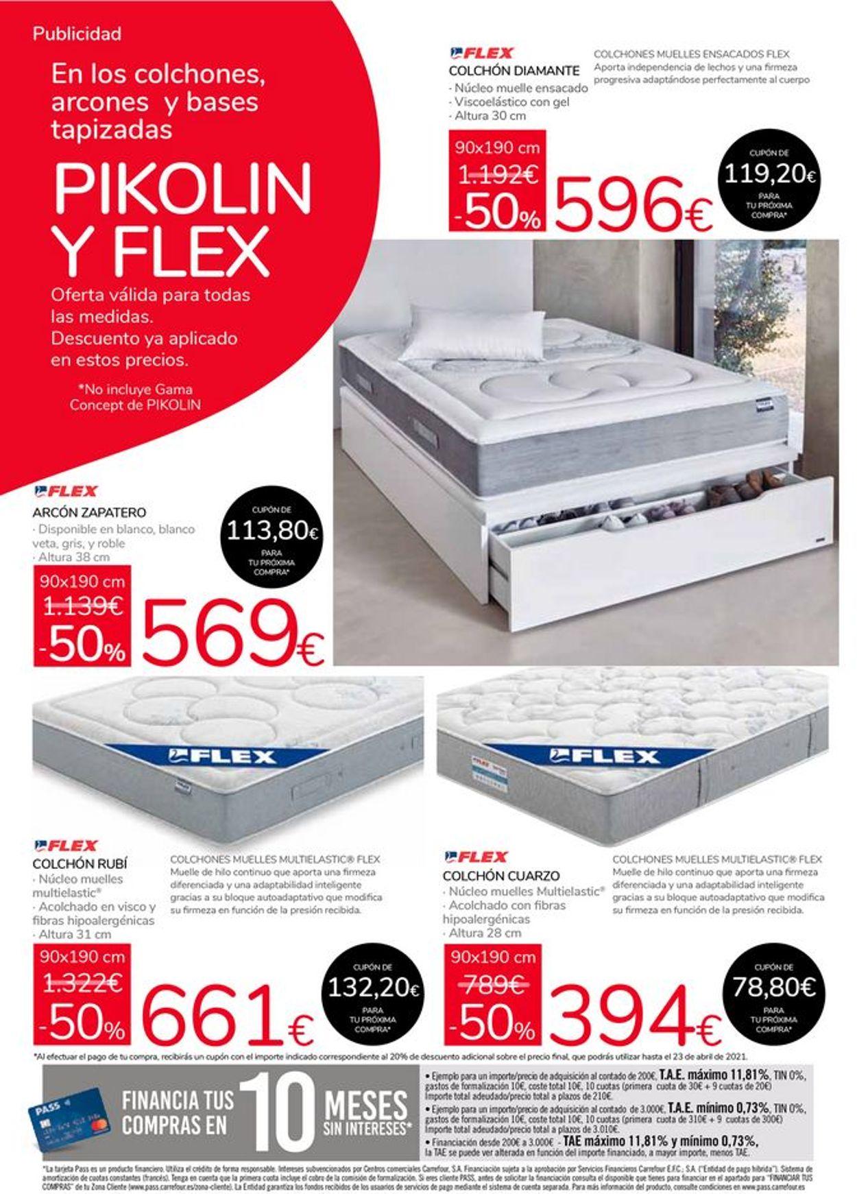 Carrefour 50% de descuento en Pikolin y Flex Folleto - 24.02-23.03.2021 (Página 3)