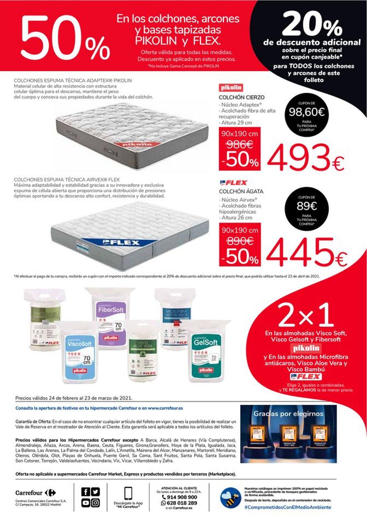 Carrefour 50% de descuento en Pikolin y Flex Folleto - 24.02-23.03.2021 (Página 4)