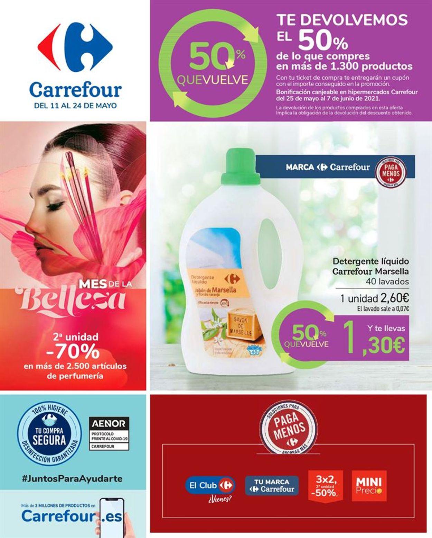 Carrefour 50% que vuelve Folleto - 11.05-24.05.2021