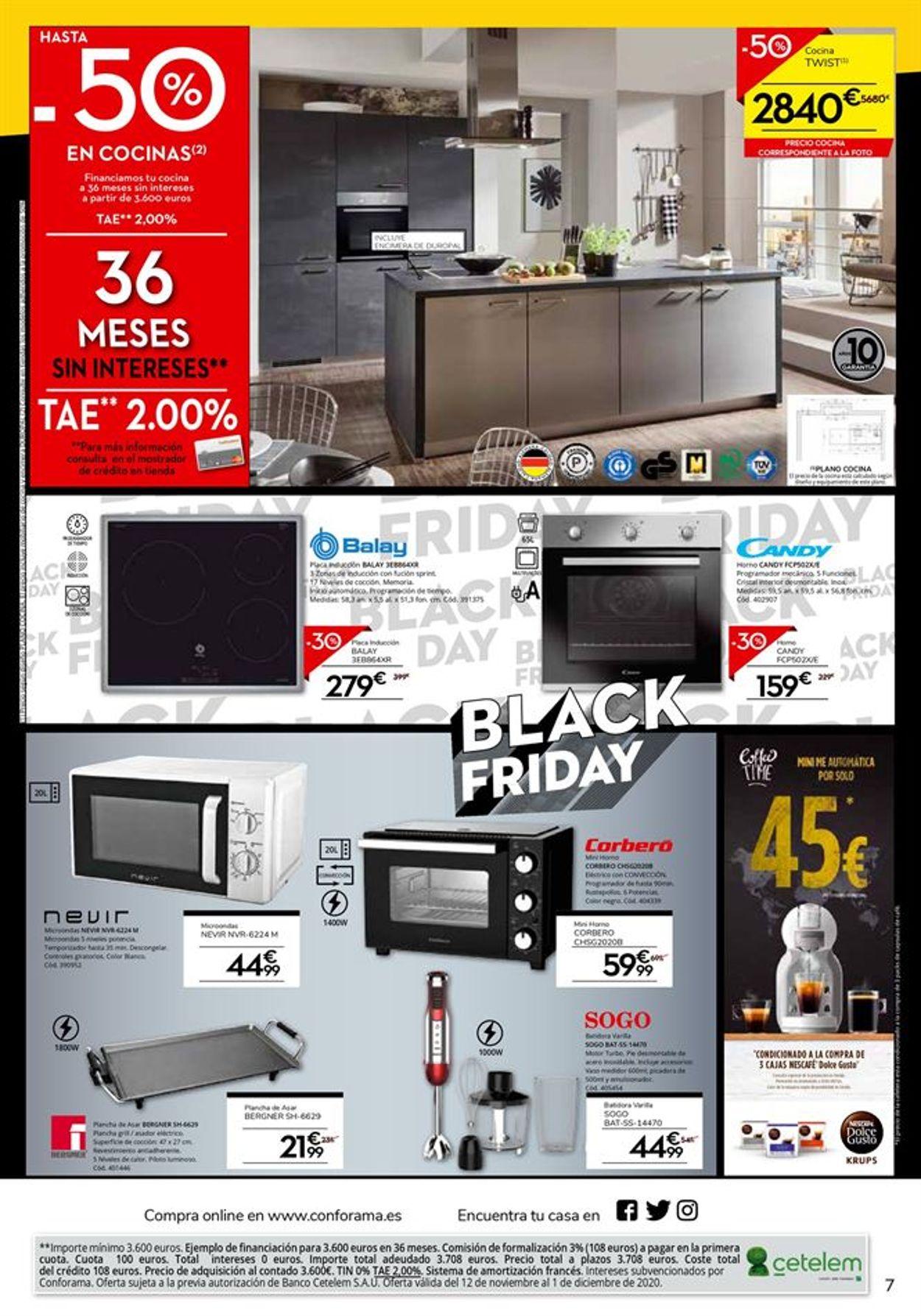 Conforama - Black Friday 2020 Folleto - 12.11-01.12.2020 (Página 7)