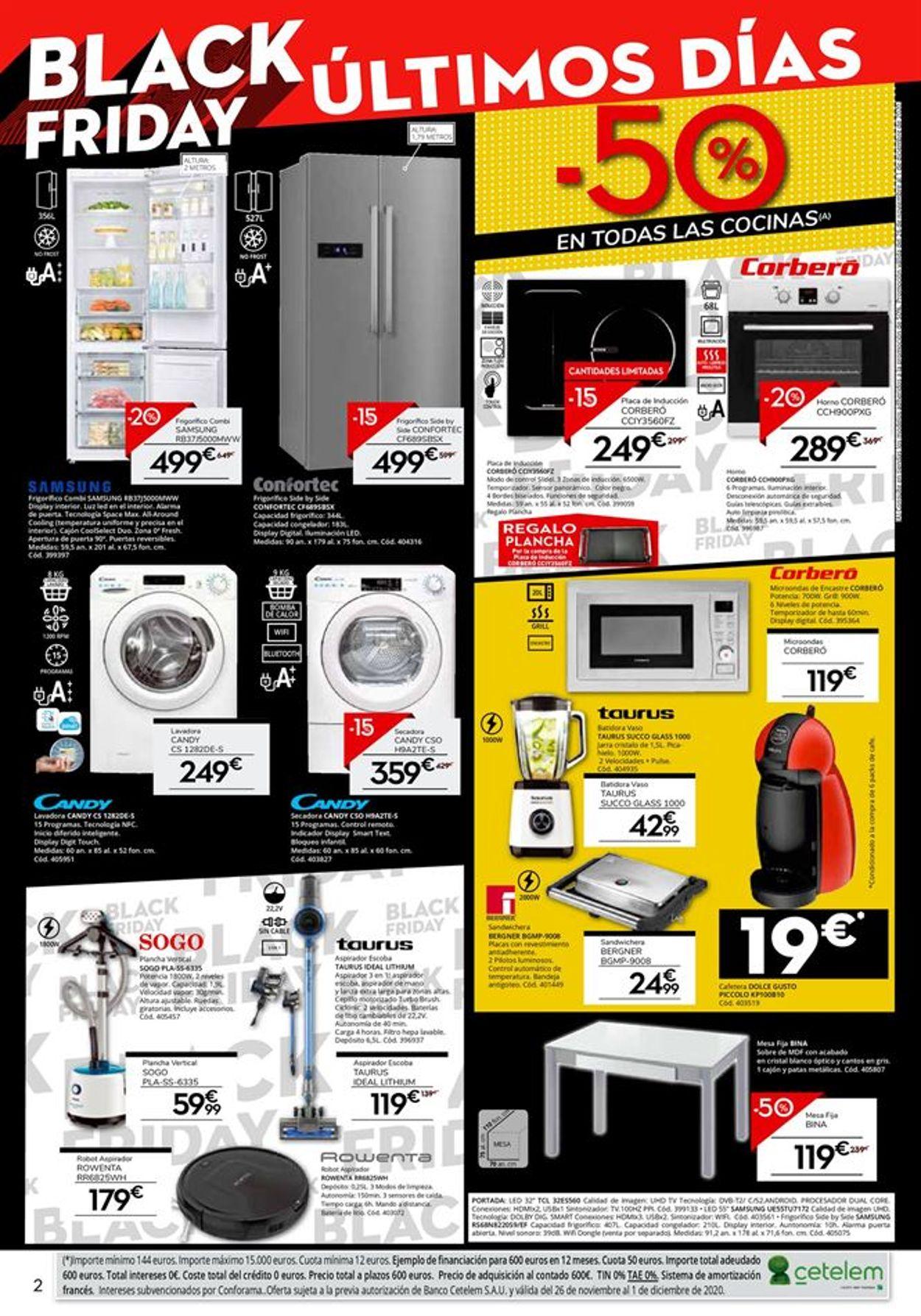 Conforama Black Friday 2020 Folleto - 26.11-01.12.2020 (Página 2)