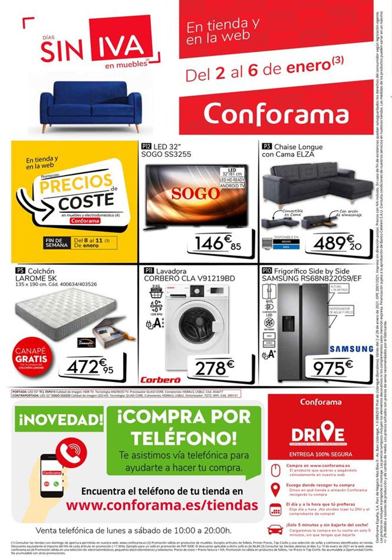 Conforama Rebajas 2021 Folleto - 02.01-28.01.2021 (Página 12)