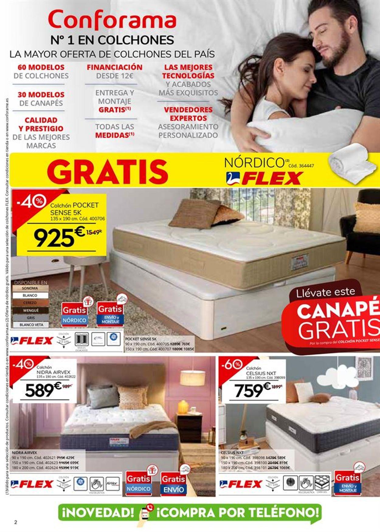 Conforama Colchones 2021 Folleto - 21.01-18.02.2021 (Página 2)