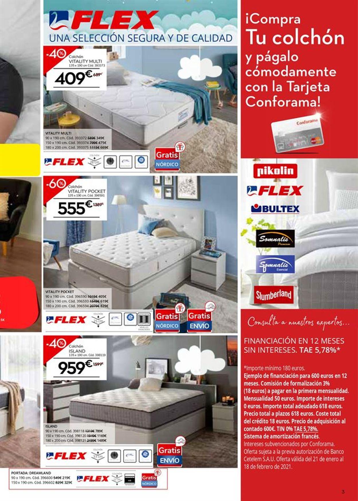 Conforama Colchones 2021 Folleto - 21.01-18.02.2021 (Página 3)