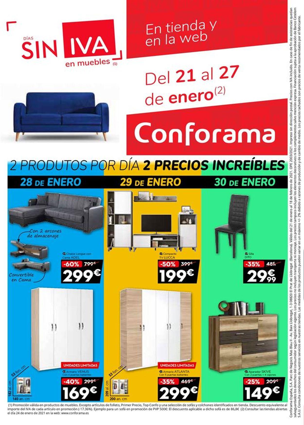 Conforama Colchones 2021 Folleto - 21.01-18.02.2021 (Página 32)