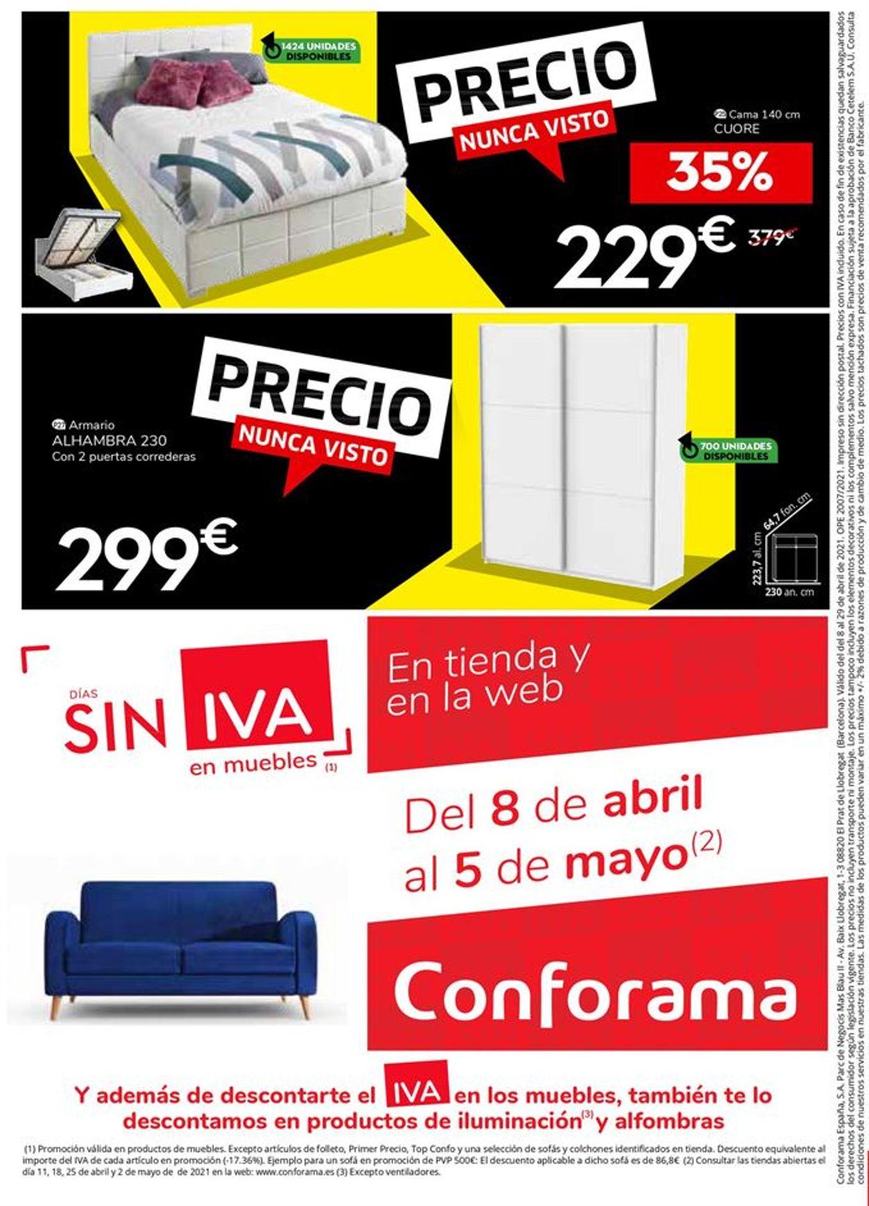 Conforama Folleto - 08.04-29.04.2021 (Página 34)