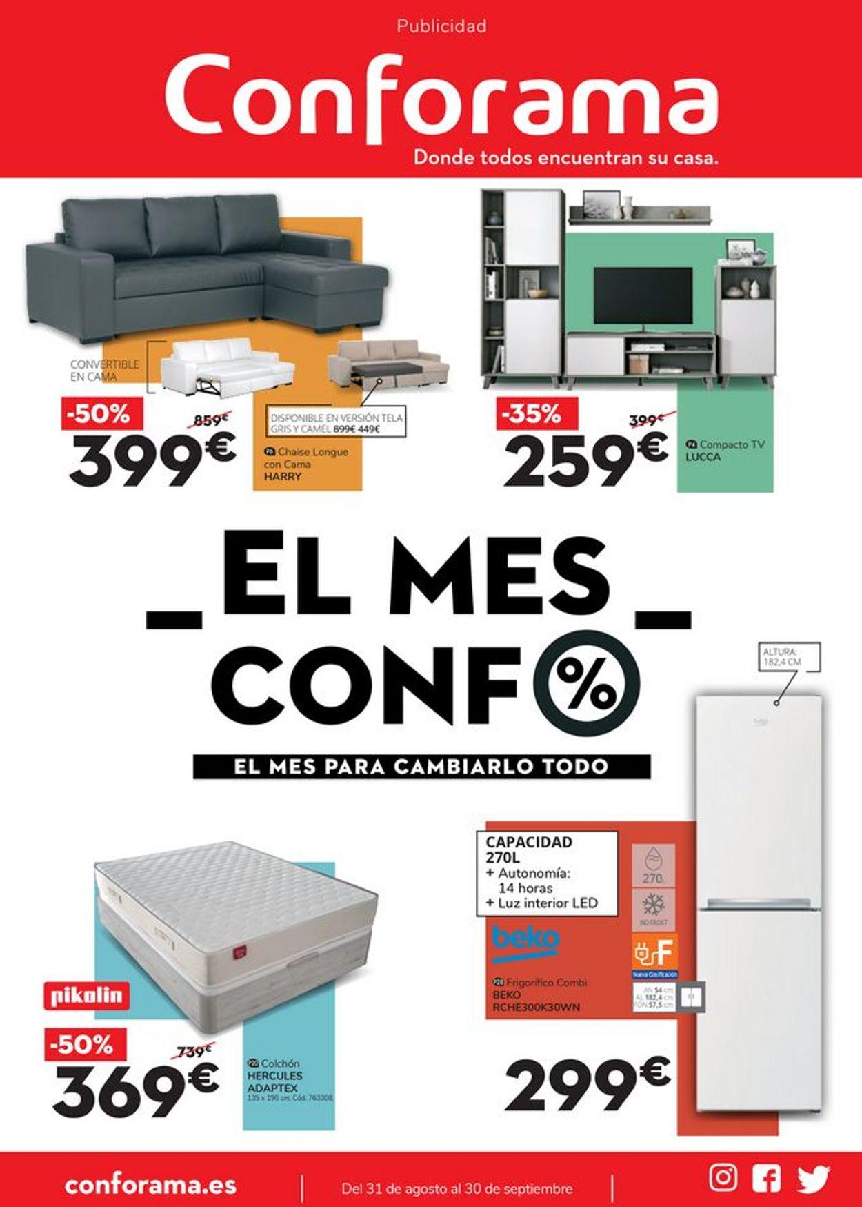 Conforama Folleto - 31.08-30.09.2021