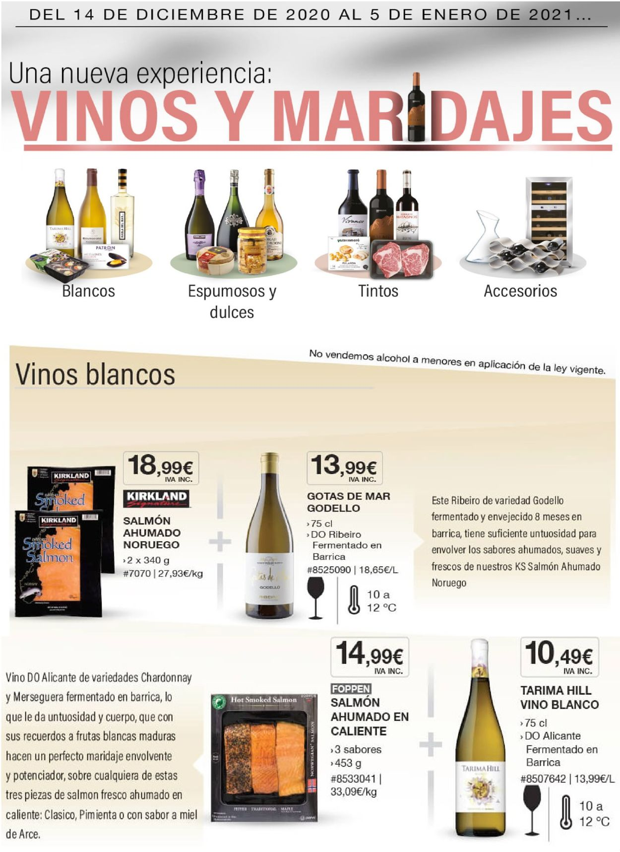 Costco Vinos 2020 Folleto - 14.12-05.01.2021