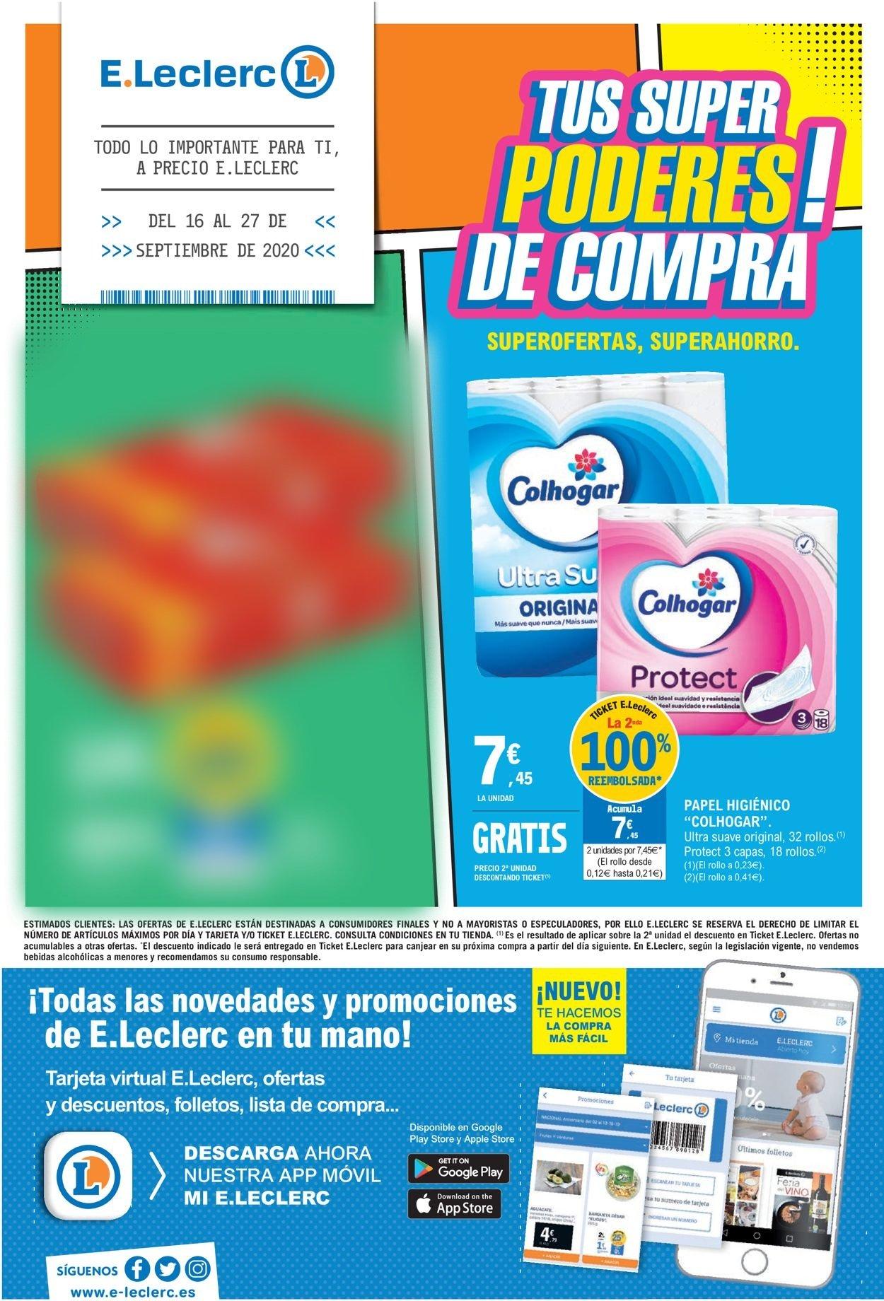 E.leclerc Folleto - 16.09-27.09.2020