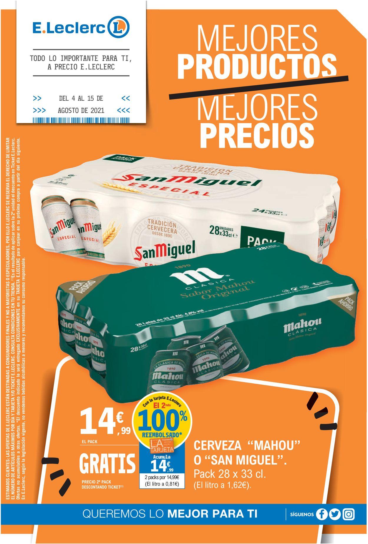 E.leclerc Folleto - 04.08-15.08.2021