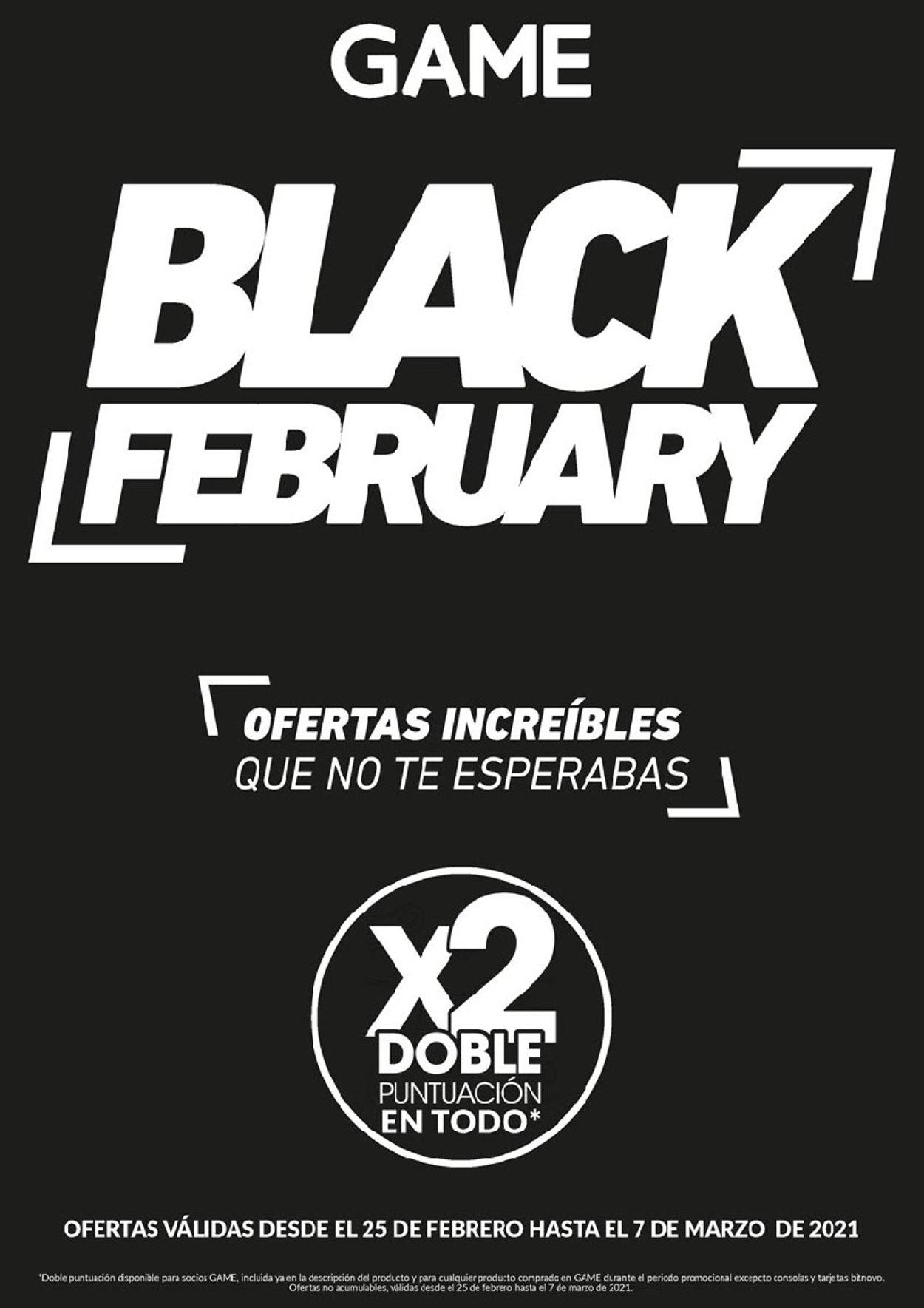 Game BLACK FEBRUARY Folleto - 25.02-07.03.2021