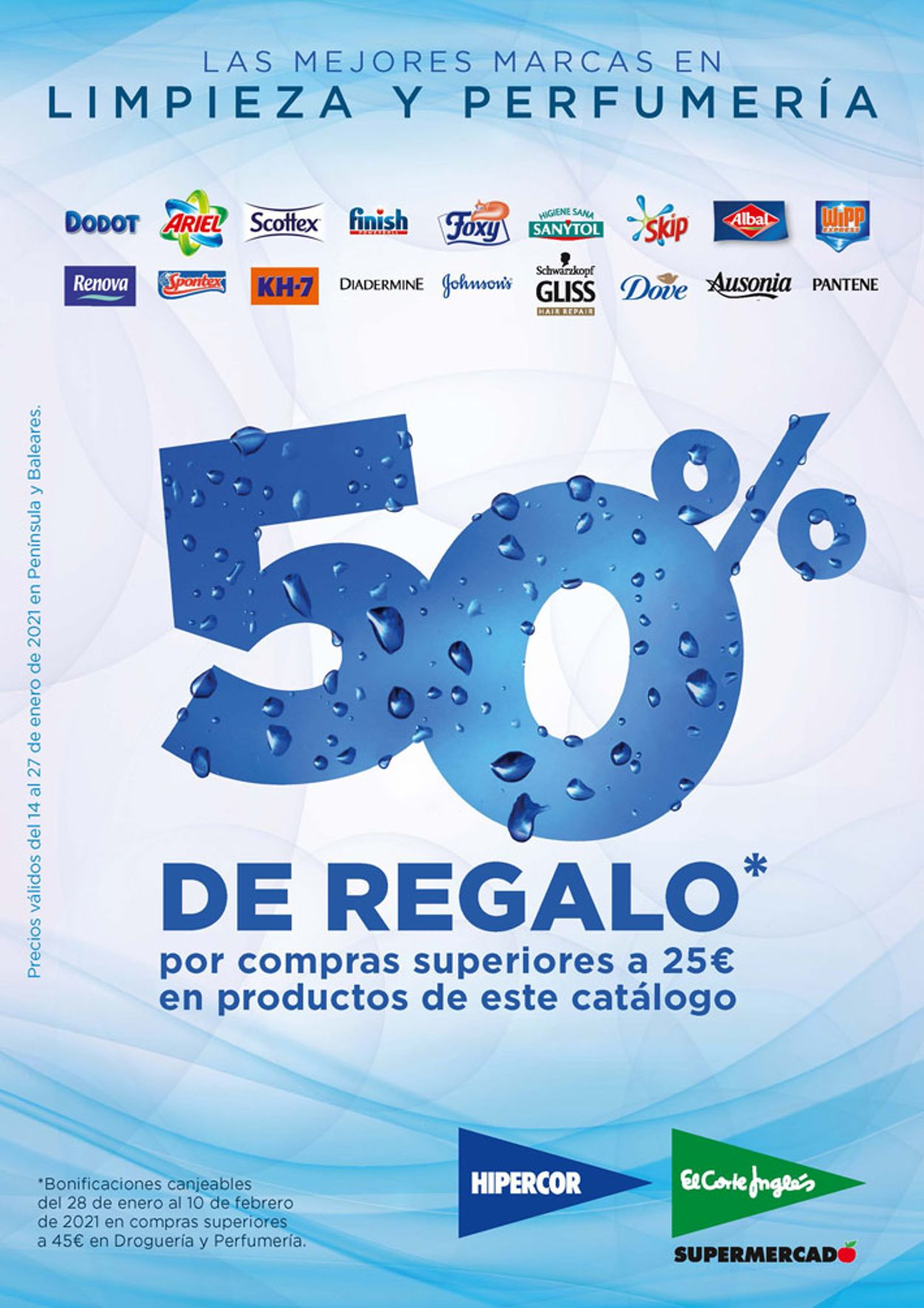 Hipercor 50% de Regalo 2021 Folleto - 14.01-27.01.2021