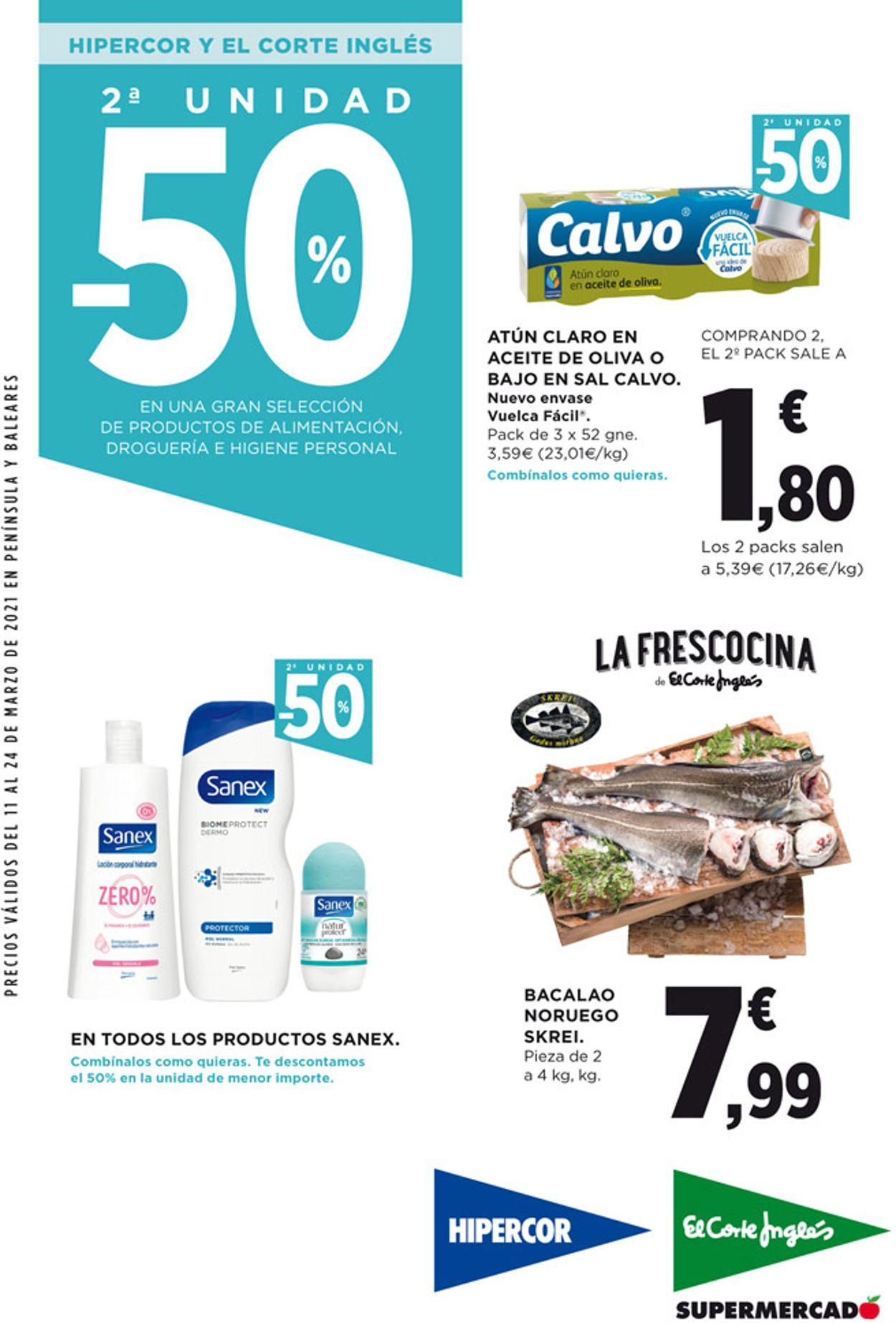 Hipercor Folleto - 11.03-24.03.2021